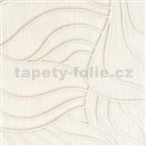 Vliesové tapety na zeď Colani Visions abstraktní listy bílé s perleťovou konturou