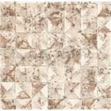 Vliesové tapety na zeď Collage 3D obklad hnědý