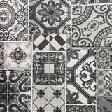Vliesové tapety na zeď Collage obklad Barcelona šedo-stříbrný
