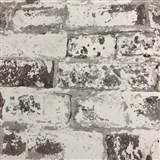 Vliesové tapety na zeď Collage cihla šedá