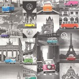Vliesové tapety na zeď Collage auta Volkswagen