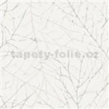 Vliesové  tapety na zeď Collection 2 větvičky šedé