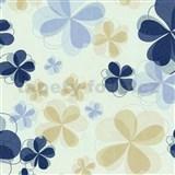 Vliesové tapety na zeď Modern Line - květy modré