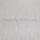 Vliesové tapety na zeď  Collection 2 proužky svislé stříbrné, fialkové a bílé na bílém podkladu