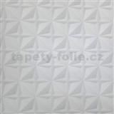 Papírové tapety na zeď 3D jehlany šedé