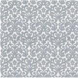 Vliesové tapety  zámecký vzor šedý na bílém podkladu PROFI ROLL AKCE dvě role v jedné