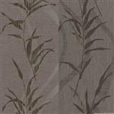 Vliesové tapety na zeď Sinfonia - bambusové listy na hnědo-fialovém podkladu - SLEVA