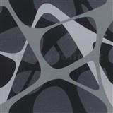 Luxusní vliesové tapety Zaha Hadid 3D design šedo-černý-fialový POSLEDNÍ KUSY