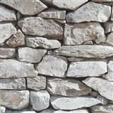 Vinylové tapety na zeď 3D kámen světle šedý