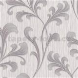 Vliesové tapety na zeď Como - listy fialovo-stříbrné