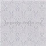 Vliesové tapety na zeď Como - fialovo-stříbrné ornamenty na fialovém podkladu