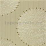 Luxusní vliesové tapety na zeď Da Milano - květy zlato-krémové 10,05 m x 1,06 m PROFI ROLE