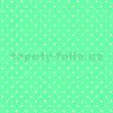 Samolepící tapety puntíky mint 45 cm x 15 m