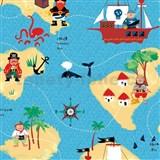 Samolepící fólie piráti - 45 cm x 15 m