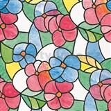 Samolepící folie d-c-fix transparentní květy červené 45 cm x 15 m