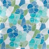 Samolepící tapety - transparentní květy modré 45 cm x 15 m