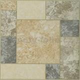 Vinylové samolepící podlahové čtverce Classic dlažební kámen béžovo-šedý rozměr 30,5 cm x 30,5 cm