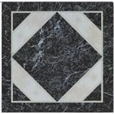 Vinylové samolepící podlahové čtverce Classic mramor černobílý rozměr 30,5 cm x 30,5 cm