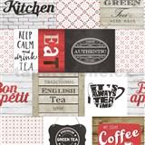 Vinylové tapety do kuchyně IMPOL Decoration moderní patchwork červený