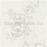 Luxusní vliesové tapety na zeď G.M.Kretschmer Deluxe květy bílo-krémové