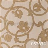 Tapety na ze� Light Story - secesn� vzor zlat� na b�ov�m podkladu