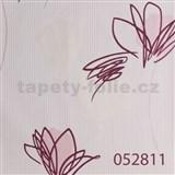 Tapety na zeď Suprofil - abstraktní květy světle růžové