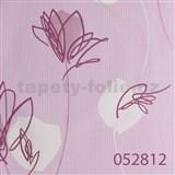 Tapety na zeď Suprofil - abstraktní květy růžové - DOPRODEJ