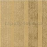 Vliesové tapety na zeď La Veneziana - pruhy zlatohnědé s metalickým efektem - POSLEDNÍ KUSY