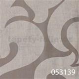 Tapety na zeď La Veneziana 2 - bílý benátský vzor na stříbrném podkladu s metalickým efektem