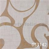 Tapety na zeď La Veneziana 2 - bílý benátský vzor na zlatém podkladu s metalickým efektem
