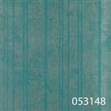Tapety na zeď La Veneziana 2 - stříbrné proužky s metalickým efektem na tyrkysovém podkladu