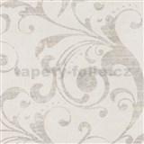 Vliesové tapety na zeď La Veneziana - barokní vzor bílo-béžový