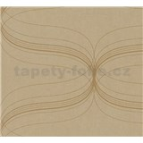 Vliesové tapety na zeď La Veneziana - zlatý ornament s metalickým efektem - AKCE