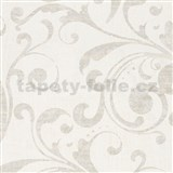 Tapety na zeď La Veneziana 2 - barokní vzor krémovo-bílý