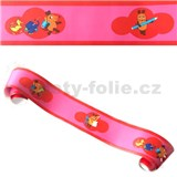 Dětské bordury Die Maus myška červeno-růžová rozměr 5 m x 15,3 cm