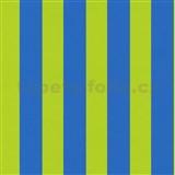 Dětské tapety na zeď Die Maus pruhy modro-zelené