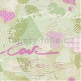 Papírové tapety na zeď Dieter Bohlen - Love zelené - SLEVA