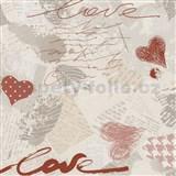 Papírové tapety na zeď Dieter Bohlen - Love červené - SLEVA