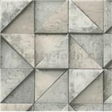 Vliesové tapety na zeď Daniel Hechter 4 geometrický vzor 3D hnědý