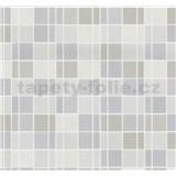 Vliesové tapety na zeď Easy Wall obklad kachličky šedé, hnědé, béžové