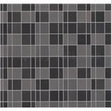 Vliesové tapety na zeď Easy Wall obklad kachličky hnědé, šedé, černé