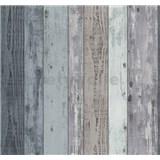Vliesové tapety Einfach Schoner dřevěná prkna modré