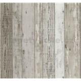 Vliesové tapety Einfach Schoner dřevěná prkna hnědé