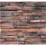 Vliesové tapety na zeď Einfach Schoner dřevo červené
