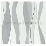 Vliesové tapety Einfach Schoner vlnovky šedo-stříbrné