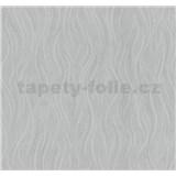 Vliesové tapety na zeď Einfach Schoner vlnovky šedé se třpytem