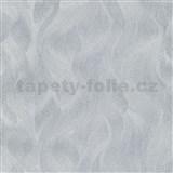 Vliesové tapety na zeď Elle Decoration vlnovky stříbrné