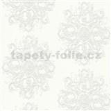 Vliesové tapety na zeď Elle Decoration zámecký vzor bílo-šedý na bílém podkladu