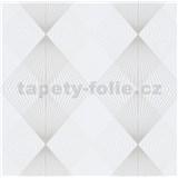 Vliesové tapety IMPOL Instawalls 2 paprsky niklové na krémovém podkladu