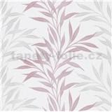 Vliesové tapety na zeď růžovo-šedé popínavé větvičky